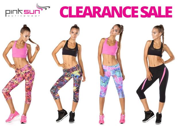 Pink Sun Activewear Clearance