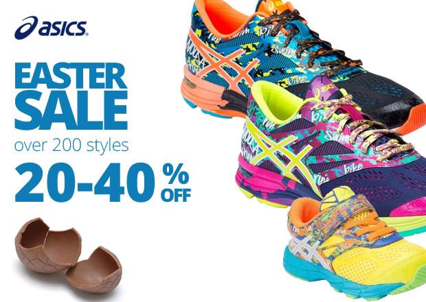 Easter sale 20%- 40% off Asics shoes over 200 styles at Slashsport.com