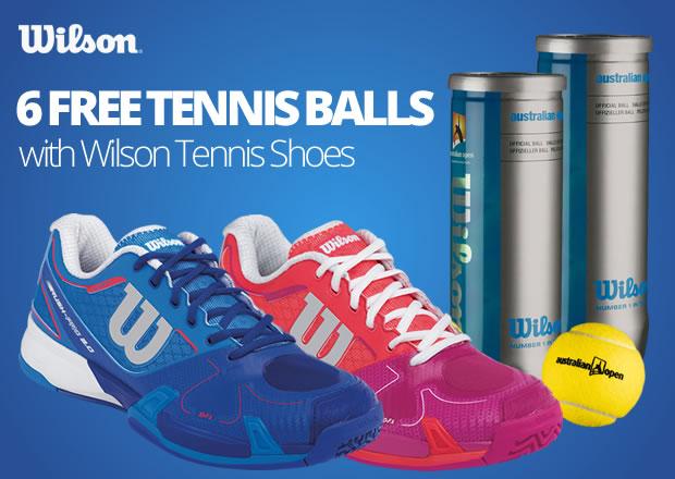 Wilson Tennis Shoes + Free Tennis Balls