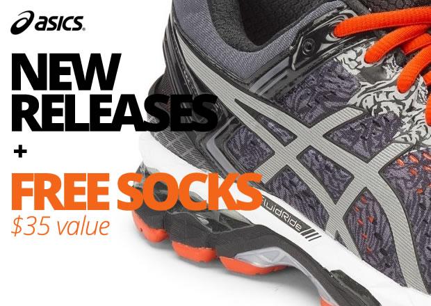 Asics New Releases + Free Socks